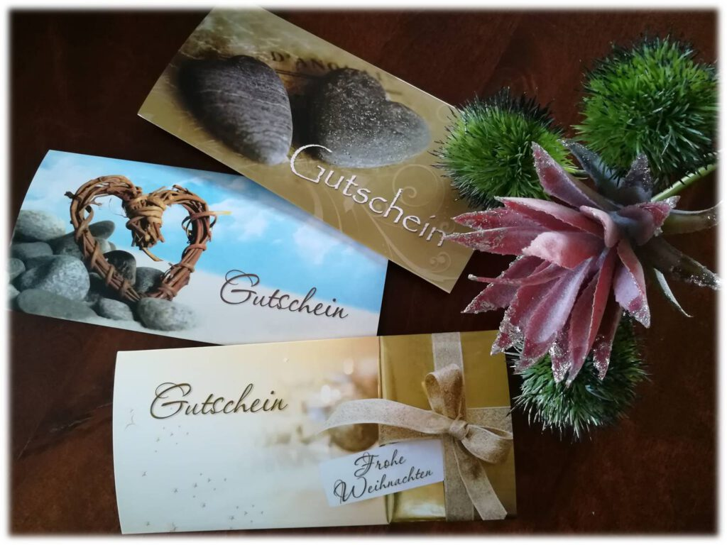 SeelenLiebe - Geschenk-Gutscheine
